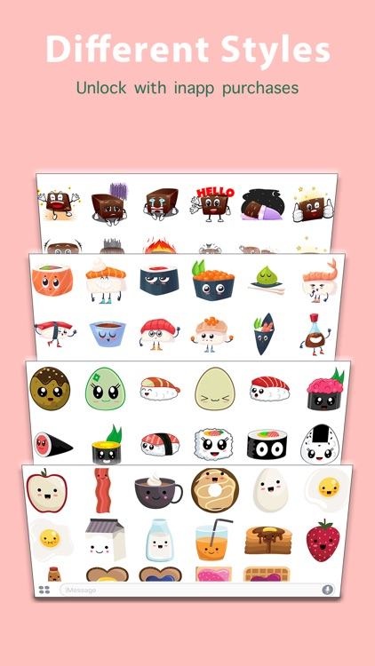 Kawaii Food Sticker screenshot-3