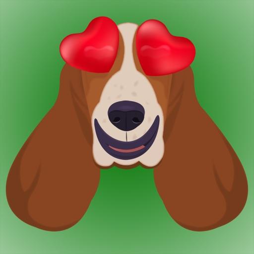 BassetMoji - Basset Hound Emoji & Stickers
