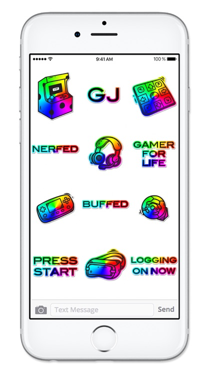 Video Game Gamer Rainbow Sticker Pack screenshot-3