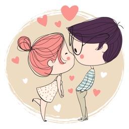 Romantic Couple - Valentine's Day Stickers Vol 01