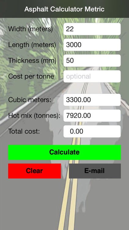 Asphalt Calculator Metric