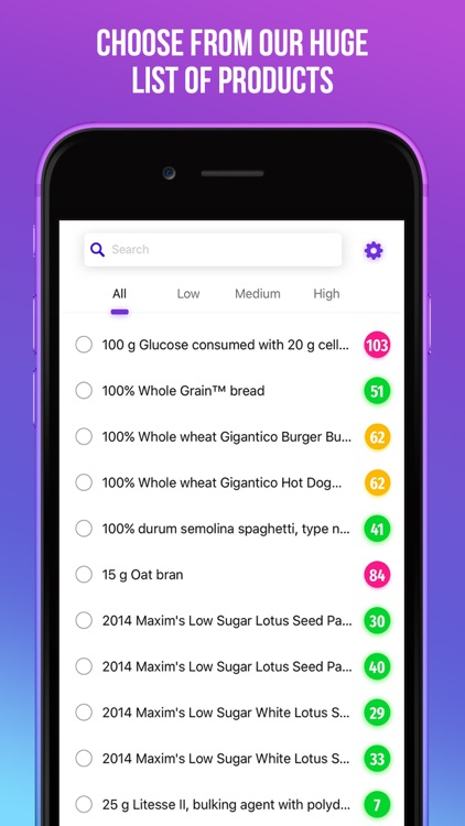 Glycemic Index Tracker Pro - Low Carb Diet Manager