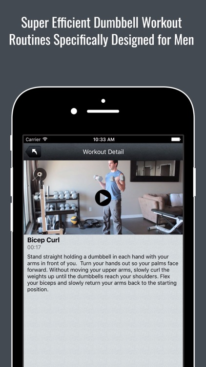 Dumbbell Home Strength Workout Routines for Men screenshot-0