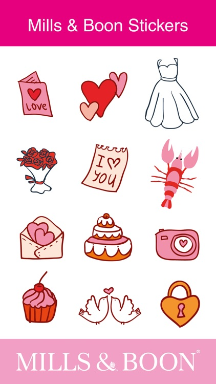 Mills & Boon Happy Ever After iMessage Stickers