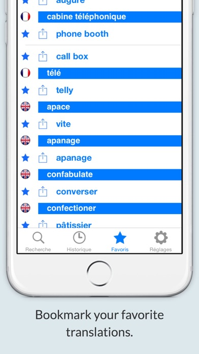 Offline English French Dictionary (Dictionnaire) screenshot two