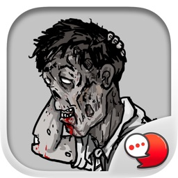 Jookgru Zombie Sticker Emoji Keyboard By ChatStick