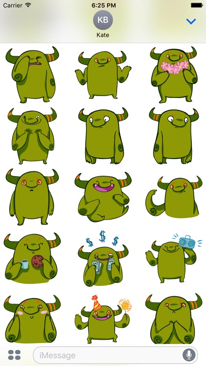 Marvin the Monster Stickers - Ogre emojies! screenshot-3