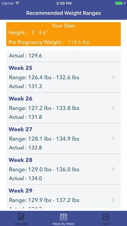 Pregnancy BMI - Weight Tracker screenshot-4