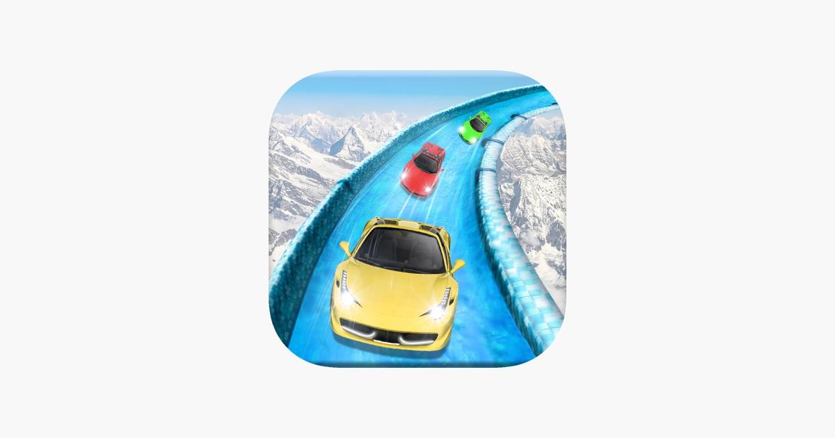 Gefroren Wasserrutsche Wagen Rennen Simulator Pro im App Store