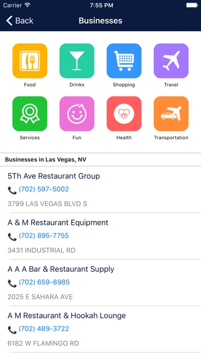 Screenshot #10 for i4vegas - Las Vegas Hotels, Yellow Pages Directory