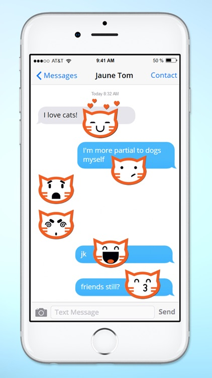 Cat Faces Emoticons Sticker Pack