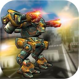 USA War Robots Battle Clash : Robo Sim-ulator 3D