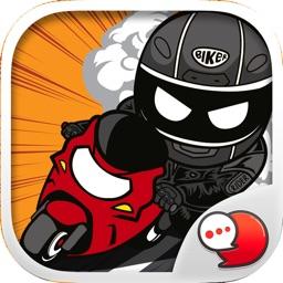 Freeman Rider Stickers Emoji Keyboard By ChatStick