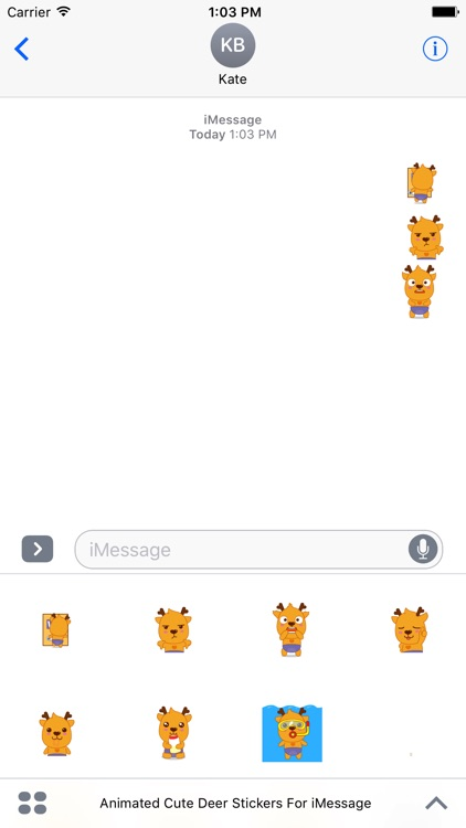Animated Cute Deer Stickers For iMessage