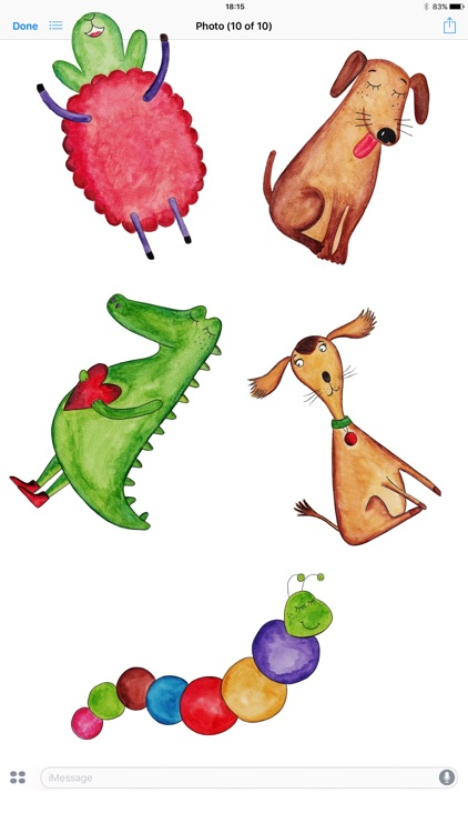 Animals and Farm! Watercolor Stickers