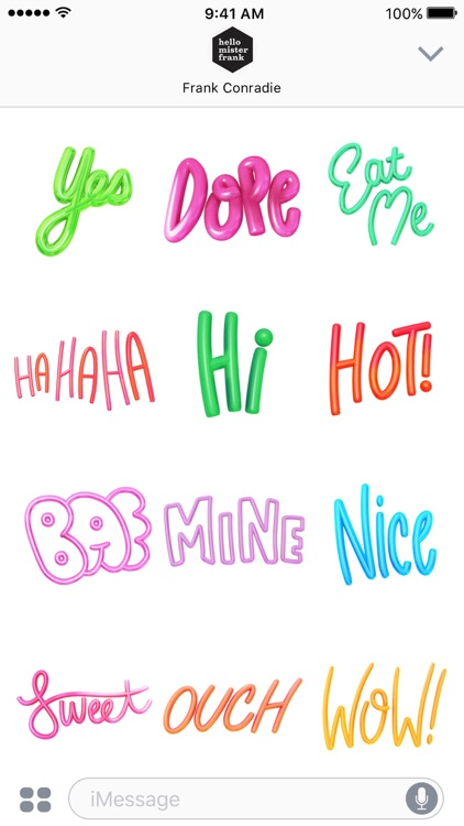 Dope Text Stickers