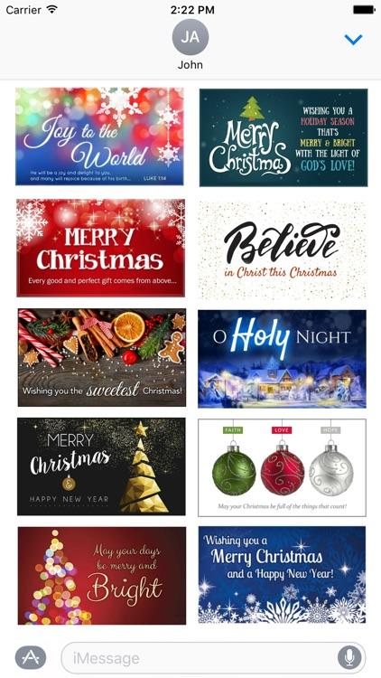 Christmas 2016 Stickers - Christmas Postcards screenshot-3