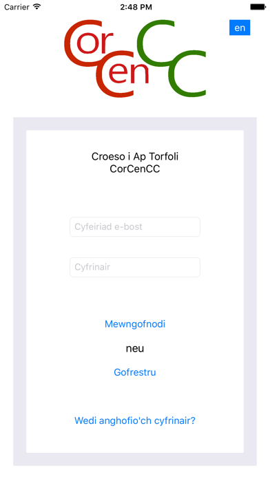 Ap Torfoli CorCenCC screenshot one