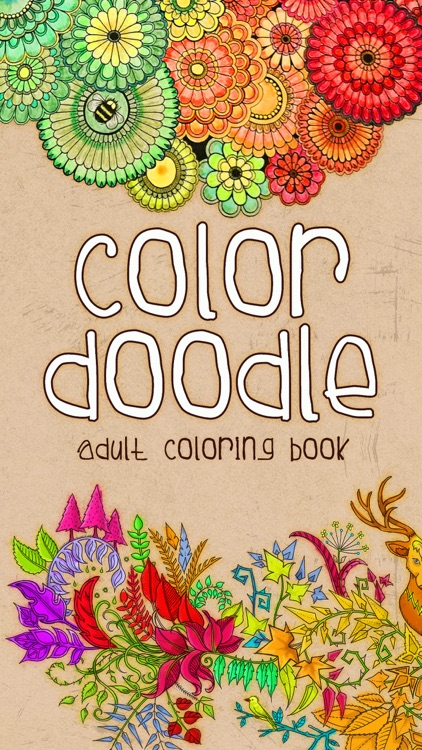 Color Doodle - Adults Coloring Book & Pigment Page
