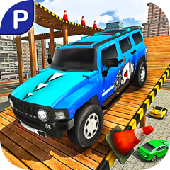 City Climb Prado Car Stunt Parking Simulator 3D