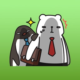Office Bear and Penguin Stickers