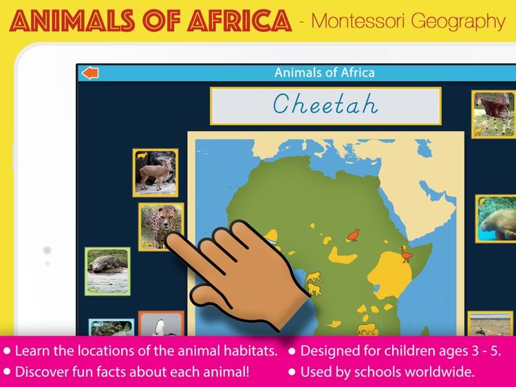 Animals of Africa - Montessori Geography