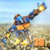 Flying Army Rescue Robot 3D