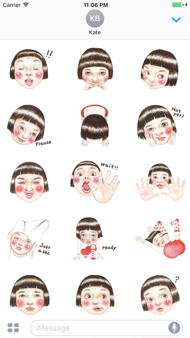 Yazmin The Lovely And Happy Girl English Stickers screenshot two