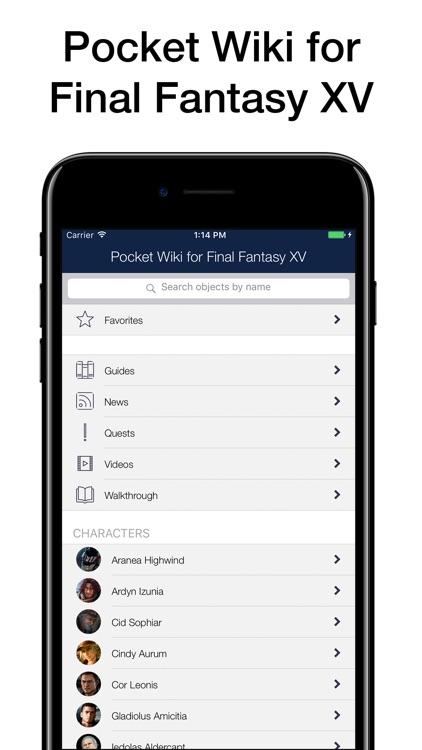 Pocket Wiki for Final Fantasy XV