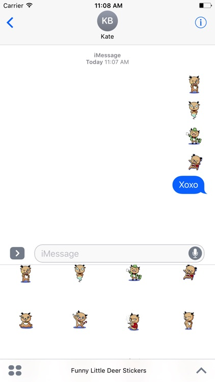 Funny Little Deer Stickers Pack For iMessage screenshot-3