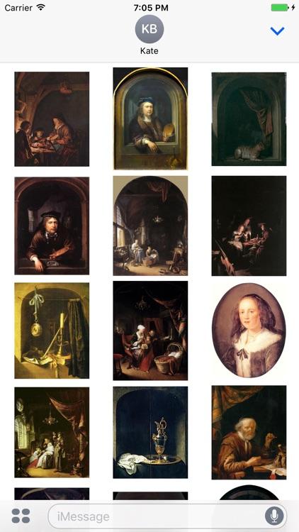 Gerrit Dou Artworks Stickers
