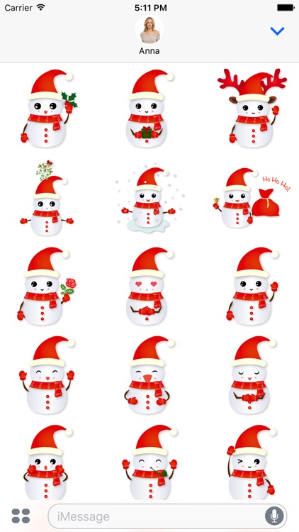 Christmas Snowman - Holiday Emoji screenshot-2