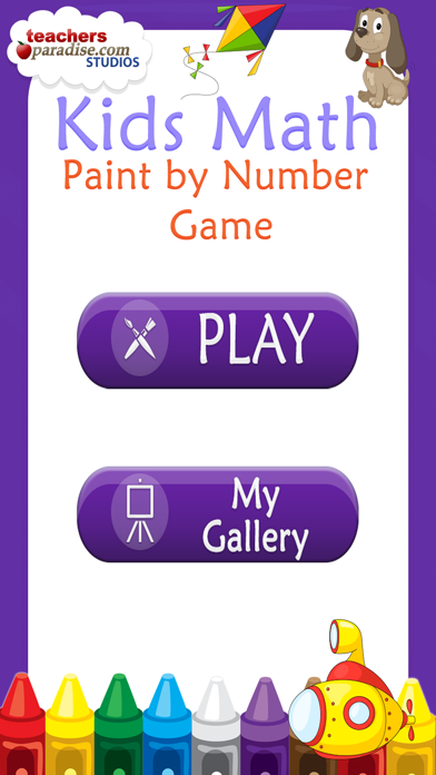Kids Math Coloring Book - Paint by Numbers screenshot one