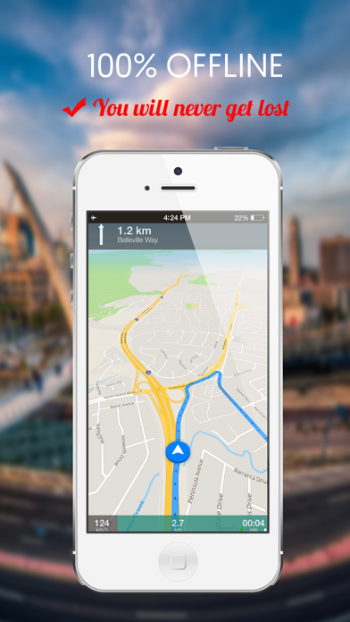 Chicago, IL : Offline GPS Navigation