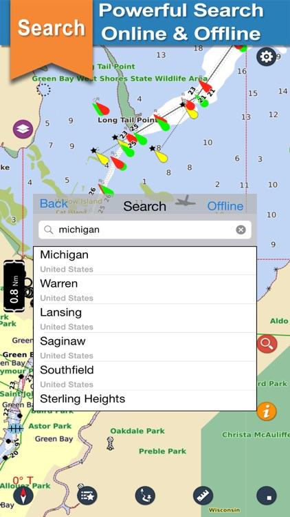 Michigan Lake offline nautical chart for boaters screenshot-3