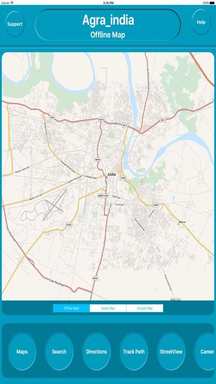 Agra india Offline Maps Navigation ( e Maps)