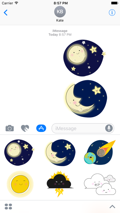 Weathermoji - cute weather stickers pack by NGOC HOANG