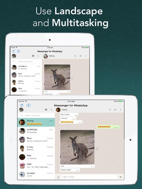 Messenger for WhatsApp - App for iPad screenshot-3