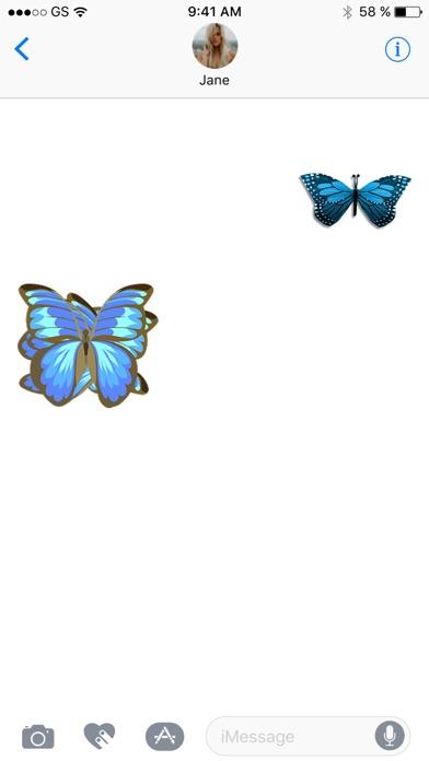 蝶スリーステッカーパックのスクリーンショット2