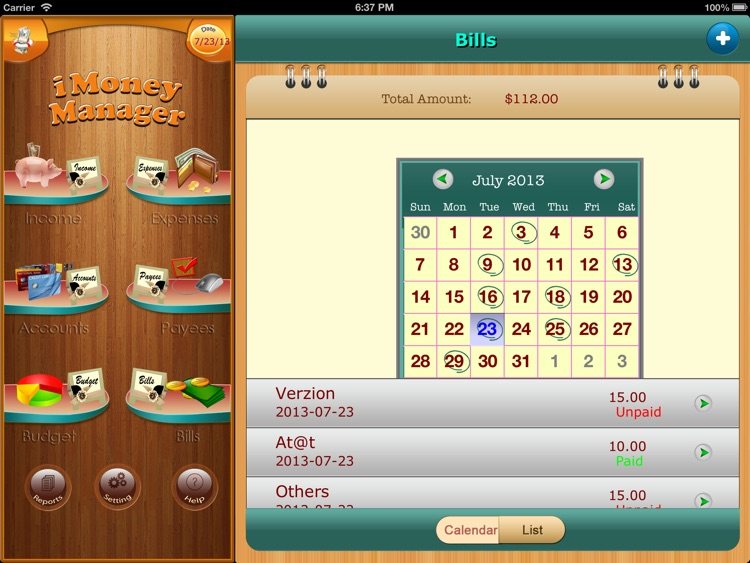Home Budget Manager HD for iPad screenshot-3