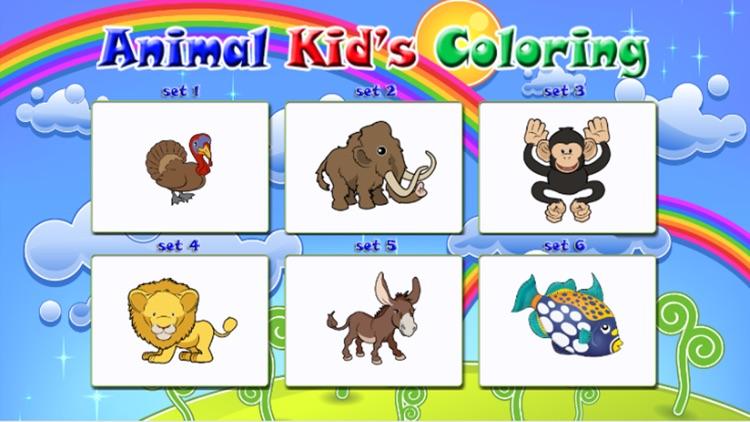 Cute Animal color books for Kids screenshot-4