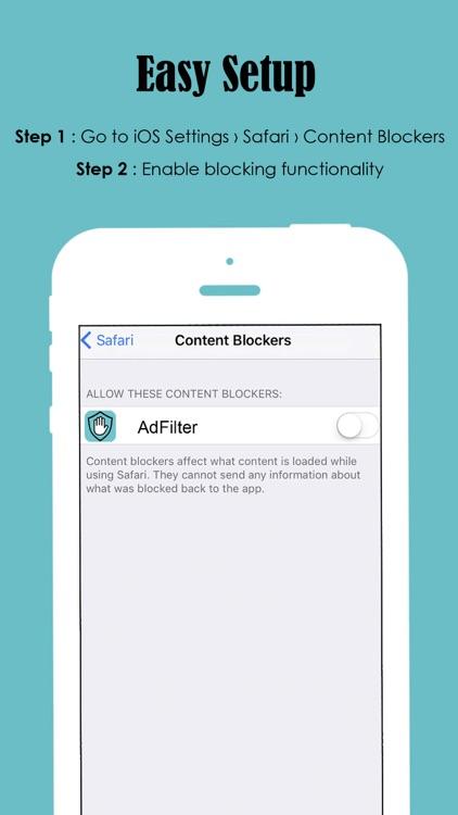 Ad Filter - Block and Filter all Ads away! screenshot-3