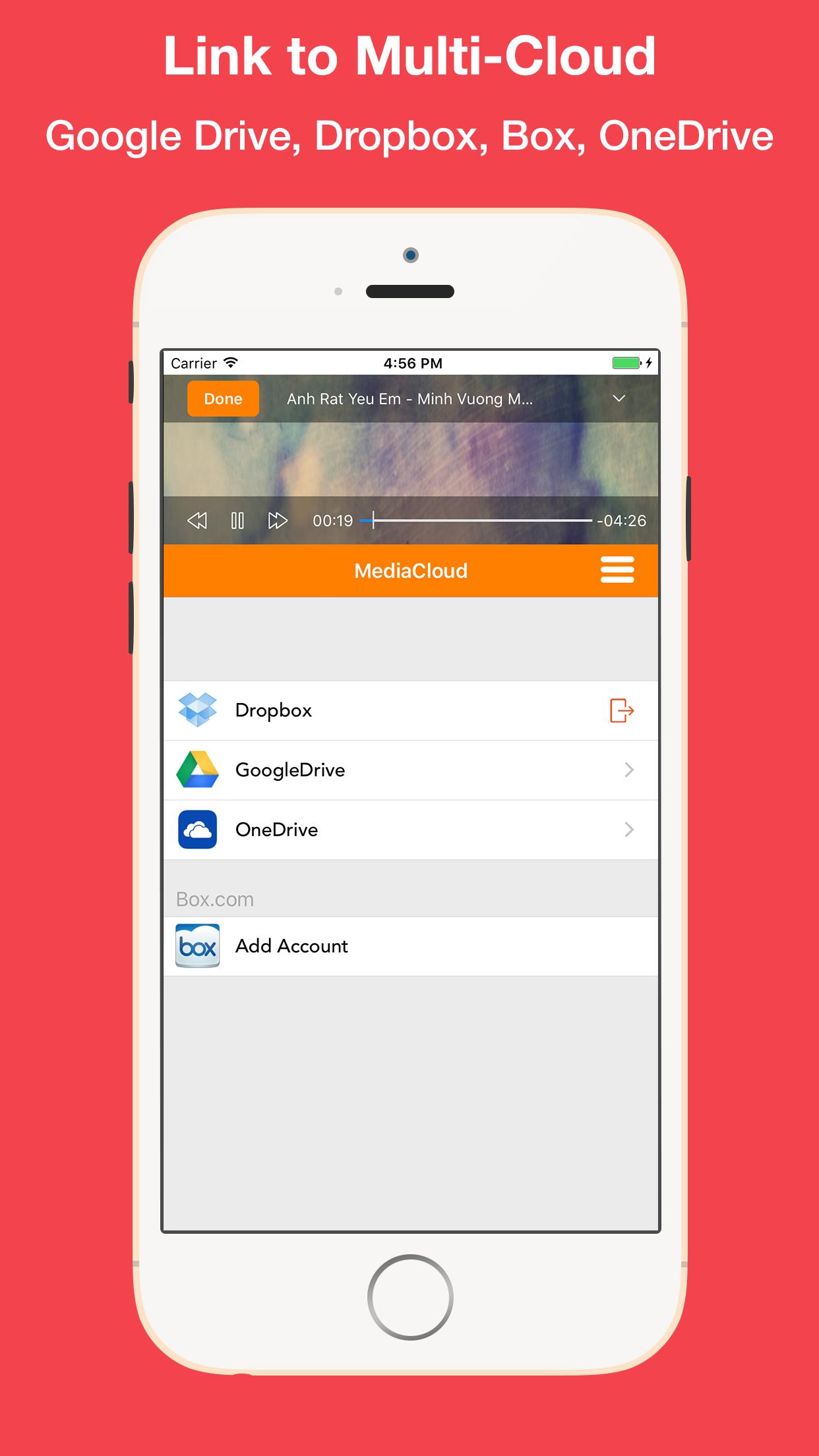MediaCloud - Get Streaming Music & Video Player Screenshot