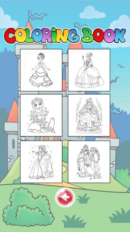 Princess Coloring Book For Toddler And Kids Free Screenshot 2