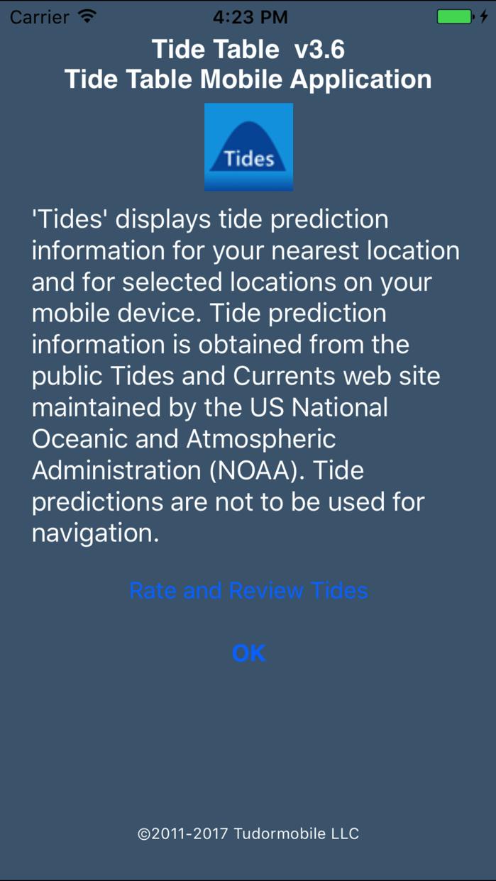 Tide Table Screenshot