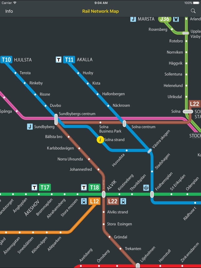 Transit Map Stockholm SL on the App Store