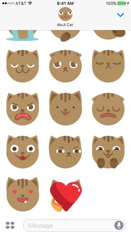 MoJi Cat - Animated Sticker Pack (Cool Kitty) screenshot-3