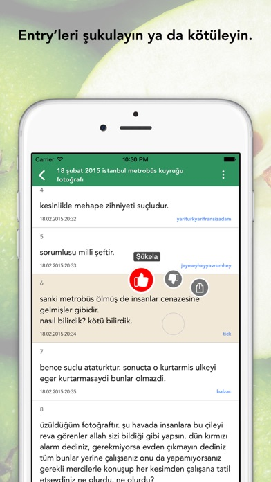 EkşiElma - ekşi sözlük mobil uygulaması screenshot four