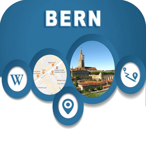 Bern Switzerland Offline Map Navigation GUIDE