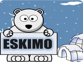 Take your texting with friends to a cold level with eskimo themed Emojis